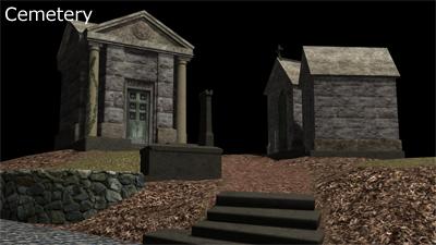 Scene Render - Cemetery