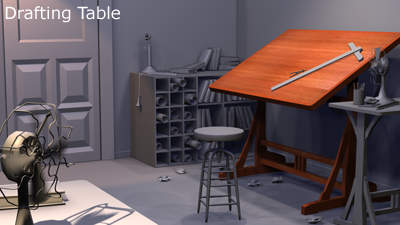 Scene Render - Drafting Room